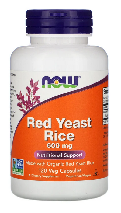 Now Foods Red Yeast Rice, 600 mg, 120 Veg Capsules
