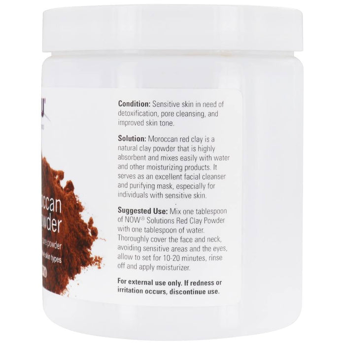 Now Foods - Moroccan Red Clay Powder, 14 oz (397 g)