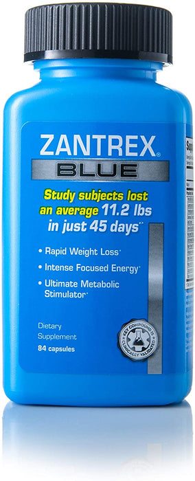 Zantrex® Blue - Maximum Strength Calorie Control®, 84 Capsules