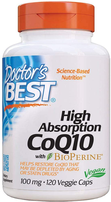 Doctor's Best - High Absorption CoQ10 with BioPerine, 100 mg, 120 Veggie Caps