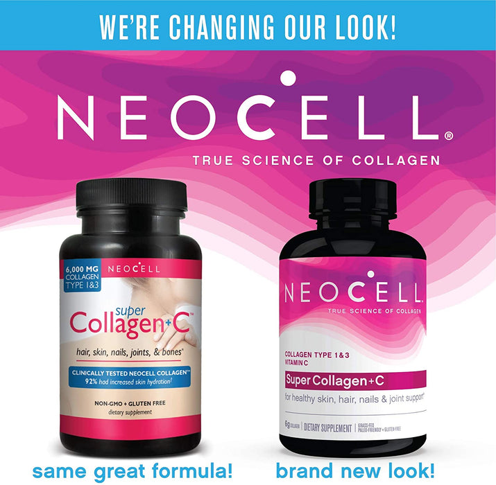 Neocell - Super Collagen + C, Type 1 & 3, 250 Tablets