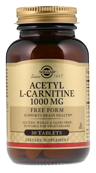 Solgar -  Acetyl L-Carnitine, 1000 mg, 30 Tablets
