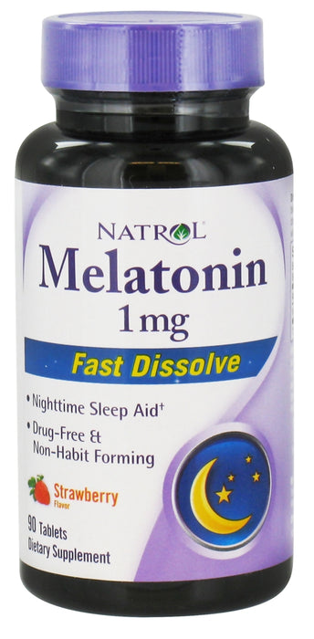 Natrol Melatonin 1 MG, Fast Dissolve, 90 tablets