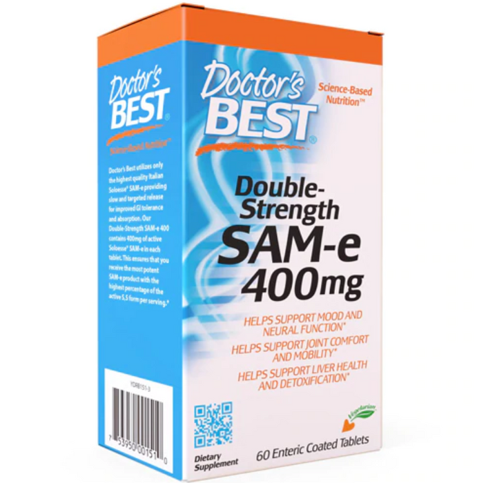 Doctor's Best - Double Strength SAM-e 400, 60 Tablets