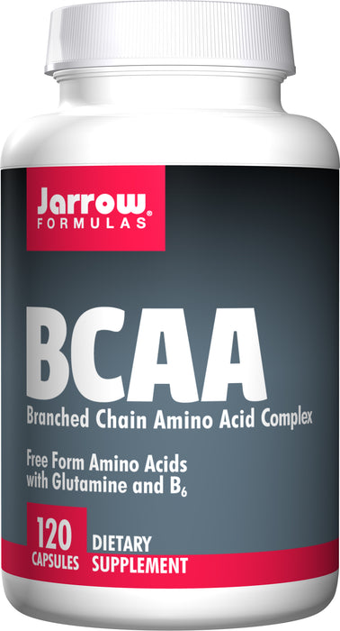 Jarrow Formulas BCAA with Glutamine and B6, 120 Capsules