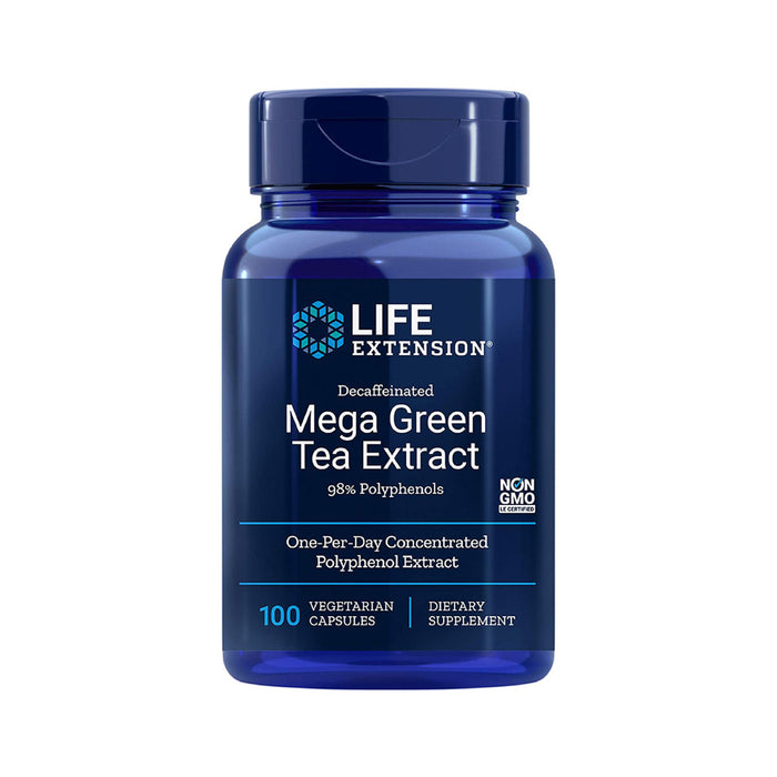Life Extension Decaffeinated Mega Green Tea Extract 100 Vegetarian Capsules
