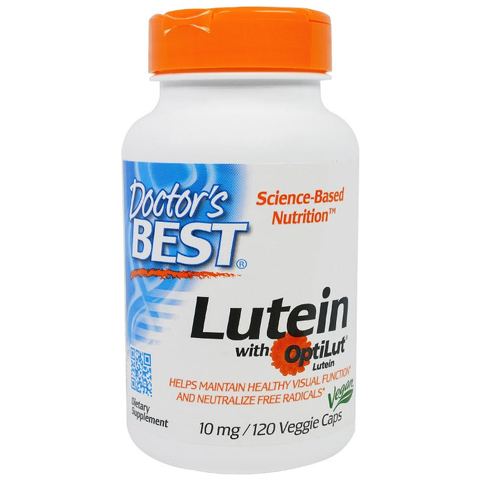 Doctor's Best, Best Lutein, 10 mg, 120 Veggie Caps