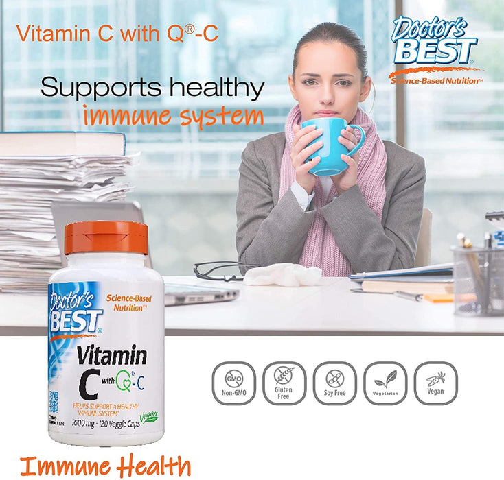 Doctor's Best, Vitamin C with Q-C, 1,000 mg, 120 Veggie Caps
