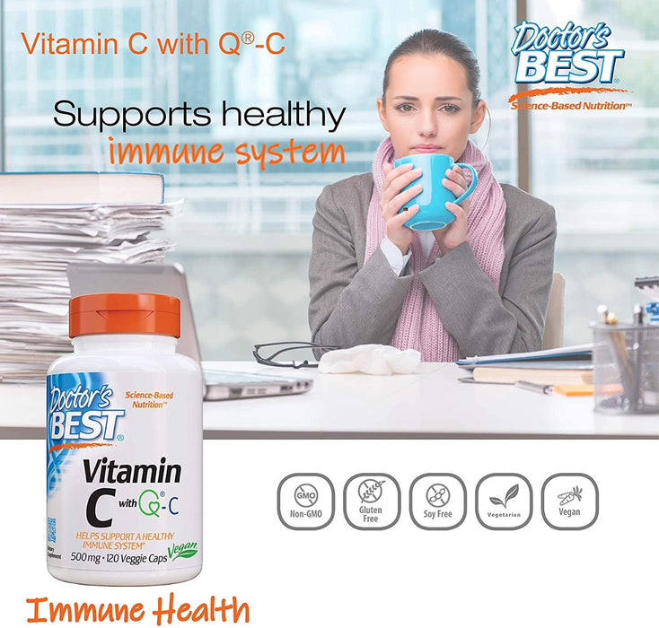 Doctor's Best, Vitamin C with Quali-C, 500 mg, 120 Veggie Caps