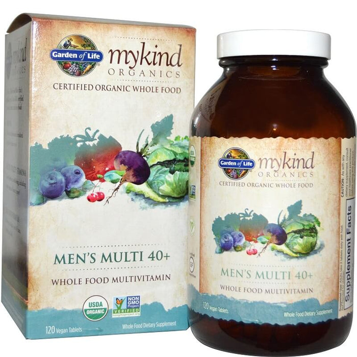 Garden of Life, Men's Multi 40+, 120 Vegan Tablets