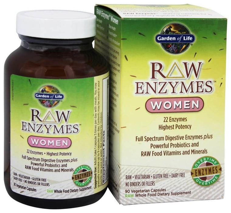 Garden of Life, RAW Enzymes, Women, 90 Vegetarian Capsules