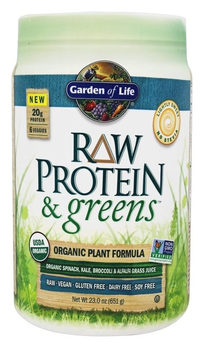 Garden of Life Raw Protein & Greens, Lightly Sweet, 23 oz (651 g)