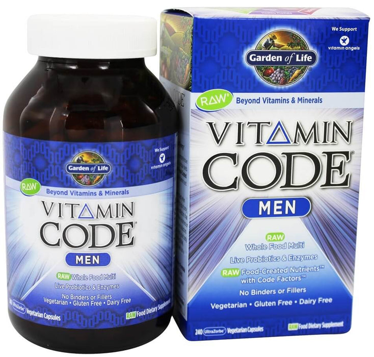 Garden of Life, Vitamin Code, Multivitamin for Men, 240 Veggie Caps-Exp 11/2020