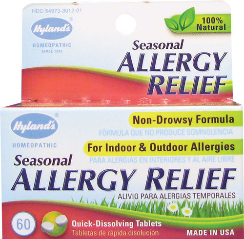 Hyland's Seasonal Allergy Relief 60 Tablets