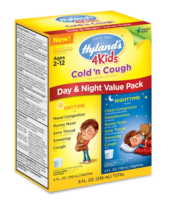 Hyland's 4kids Cold 'n Cough Day & Night Value Pack