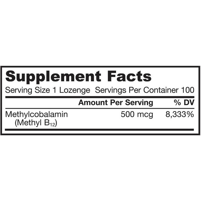 Jarrow Formulas, Methyl B-12, 500 micrograms, 100 Lozenges