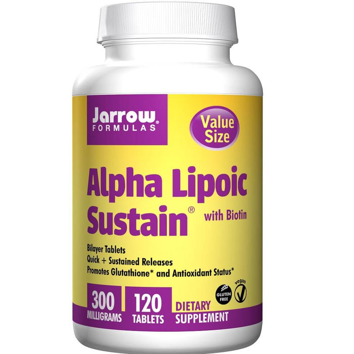 Jarrow Formulas Alpha Lipoic Sustain with Biotin, 300 mg, 120 Count