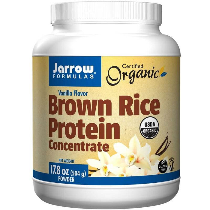 Jarrow Formulas Brown Rice Protein, Vanilla Flavor, 17.8 oz (504 g)