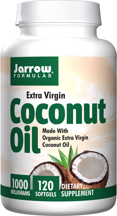 Jarrow Formulas Extra Virgin Certified Coconut Oil, 1000 mg, 120 Softgels