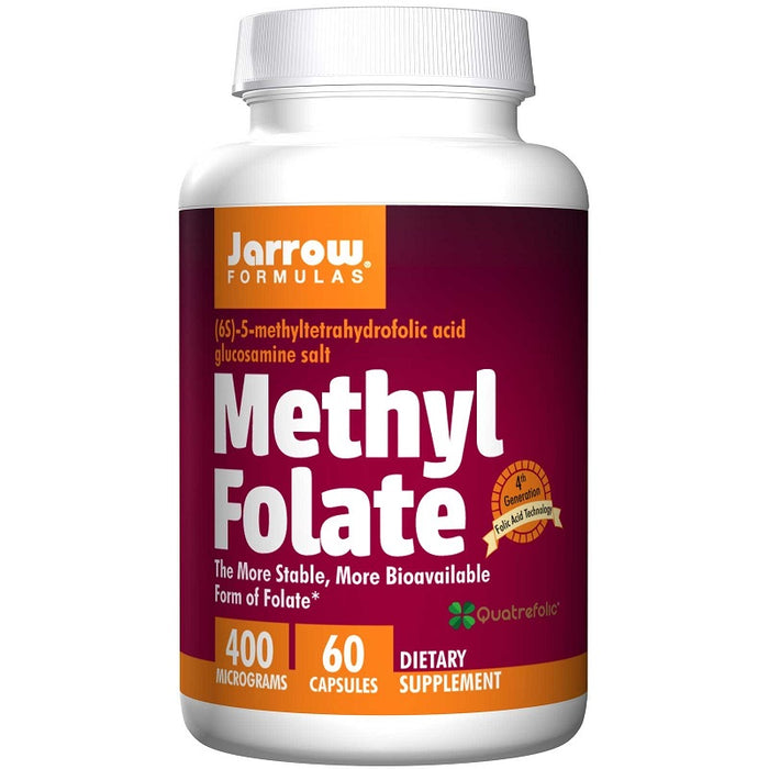 Jarrow Formulas Methyl Folate, 400 mcg, 60 Capsules