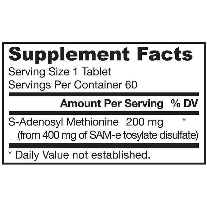 Jarrow Formulas SAM-e 200 200 mg, 60 Tablets