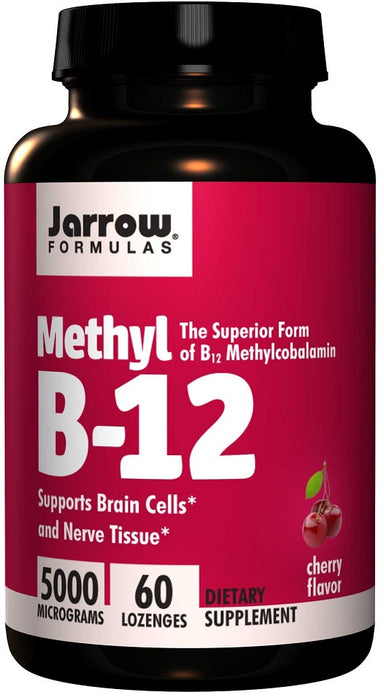 Jarrow Formulas Methyl B-12, 5000 mcg, 60 Lozenges