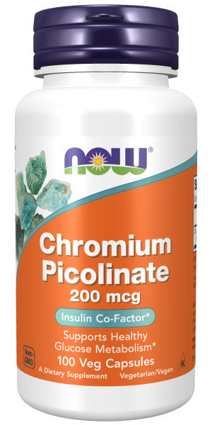 NOW Chromium Picolinate 200 mcg, 100 Veg Capsules