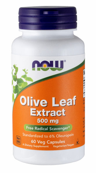 NOW Foods Olive Leaf Extract Vegetarian 500 mg, 60 Vegetarian Capsules
