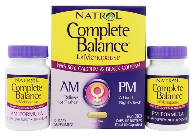 Natrol Complete Balance Menopause AM and PM ,60 Capsules