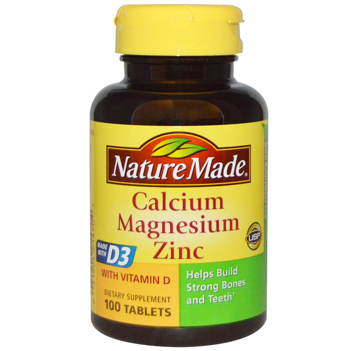 Nature Made Calcium Magnesium Zinc, 100 tablets