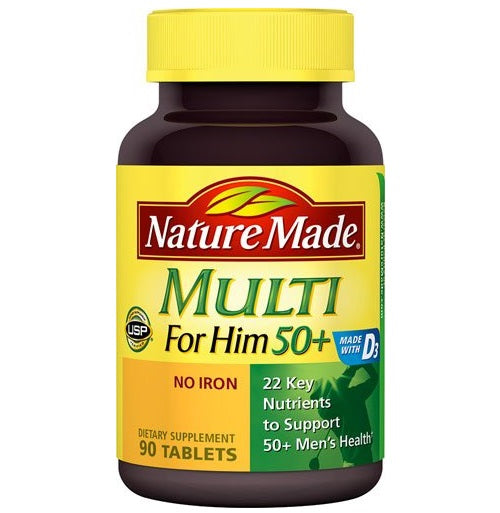 Nature Made Multi For Him 50+ Multivitamin, 90 Tablets