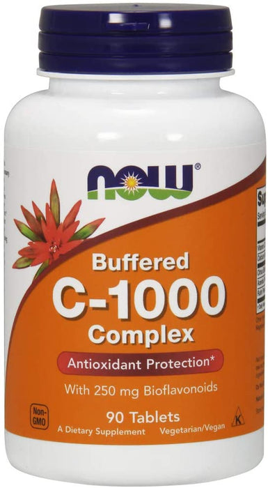 NOW Food - Vitamin C-1000 Complex with 250 mg of Bioflavonoids, 90 Tablets