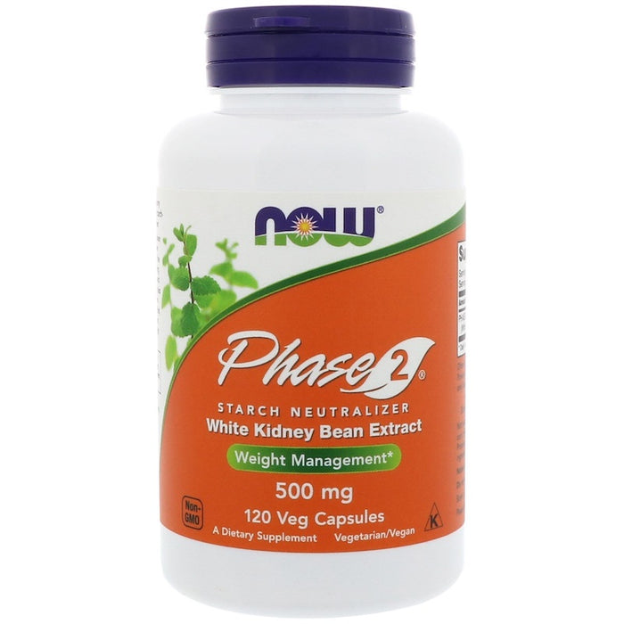 Now Foods - Phase 2 Starch Neutralizer, 500 mg, 120 Veg Capsules