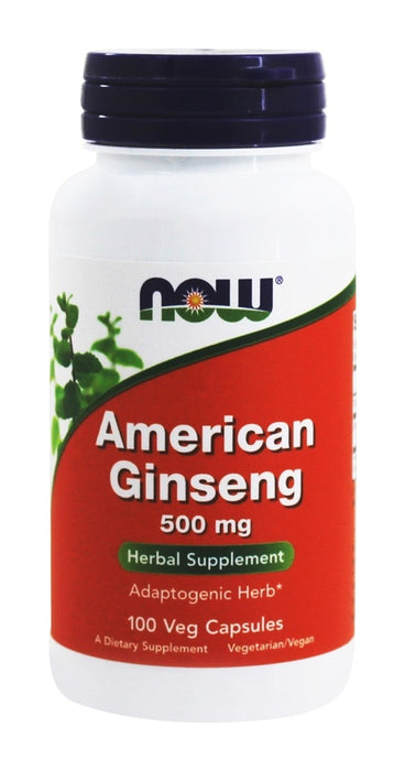 Now Foods American Ginseng, 500 mg, 100 Capsules