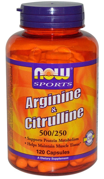 Now Foods Arginine & Citrulline, 500/250, 120 Capsules