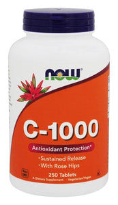 NOW Foods - Vitamin C-1000 Time Release with Rose Hips,  250 Tablets