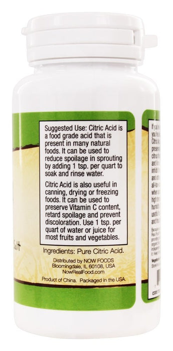 NOW Foods Citric Acid 100% Pure, 4 oz