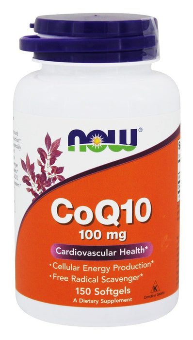 Now Foods CoQ10, 100 mg, 150 Softgels