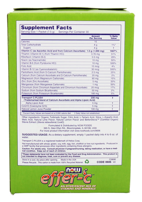 Now Foods Effer-C, Vitamin C Mix, 30 Packets