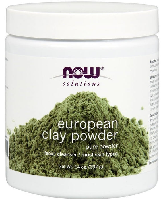Now Foods Solutions, European Clay Powder, 14 oz