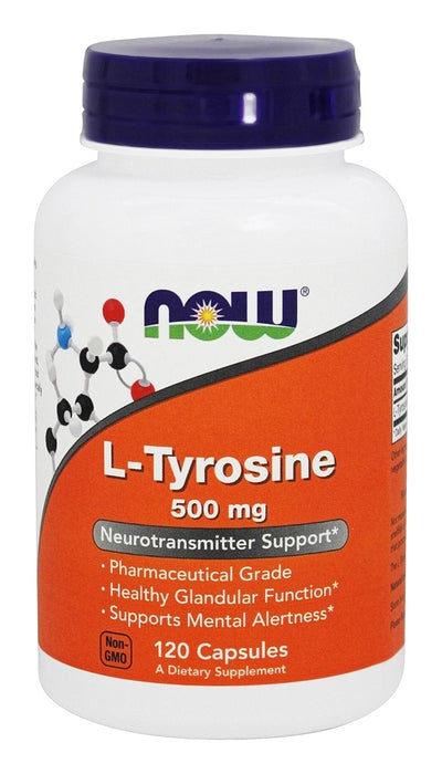 Now Foods L-Tyrosine, 500 mg, 120 Capsules