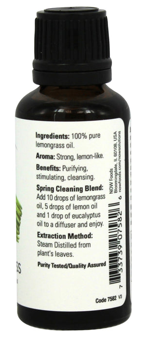 Now Foods Essential Oils, Lemongrass, 1 fl oz (30 ml)