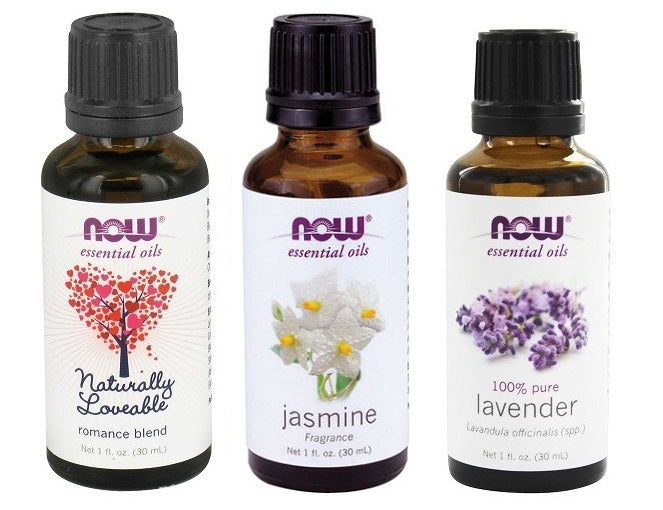 Now Foods Essential Oils, Love Set - Naturally lovable Romance Blend, Jasmine, Lavender Oils