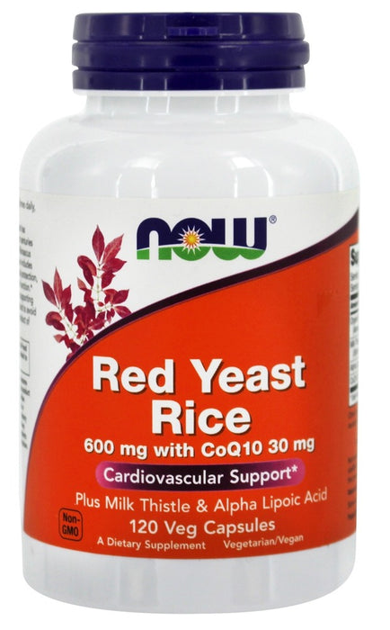 Now Foods Red Yeast Rice with CoQ10, 600 mg, 120 Veg Capsules