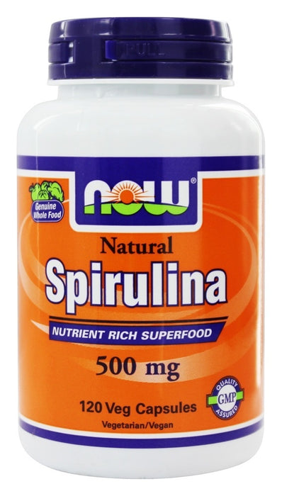 NOW Foods Spirulina 500 mg, 120 Vegetarian Capsules