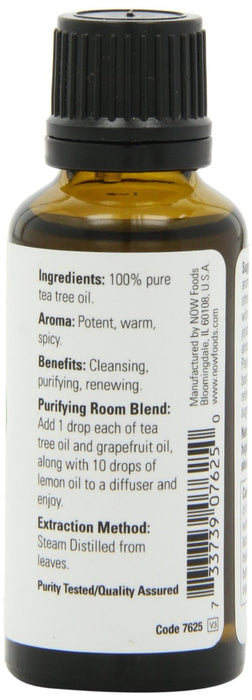 Now Foods - Essential Oils, Tea Tree, 1 fl oz (30 ml)