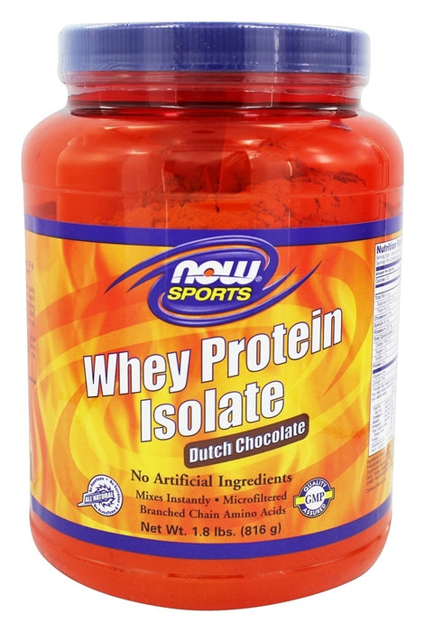 Now Foods Whey Protein Isolate, Dutch Chocolate, 1.8 lbs (816 g)