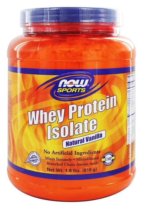NOW Foods Whey Protein Isolate Vanilla, 1.8 lbs (816 g)