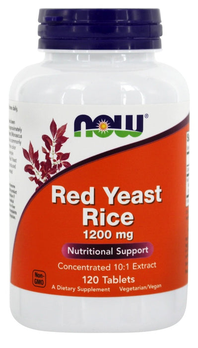 NOW Foods Red Yeast Rice 1200 mg, 120 Tablets