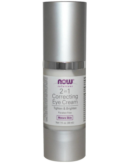 Now Foods Solutions, 2 in 1 Correcting Eye Cream, 1 fl oz (30 ml)